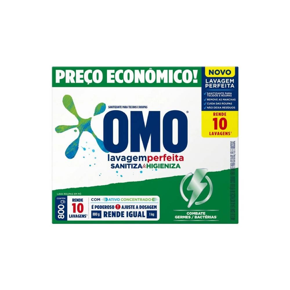 Sabão em Pó Sanitizante 800g – OMO