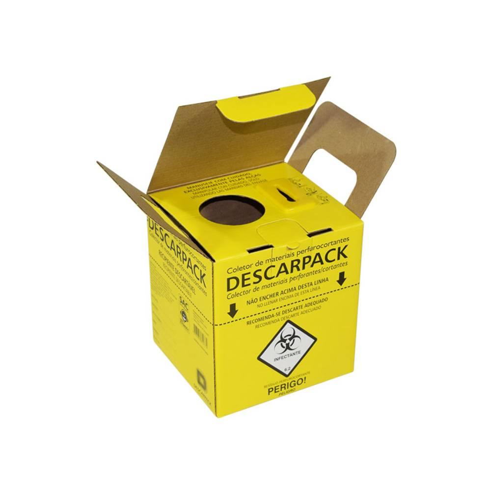 Caixa Coletora Perfurocortante Descartável 3L – DESCARPACK