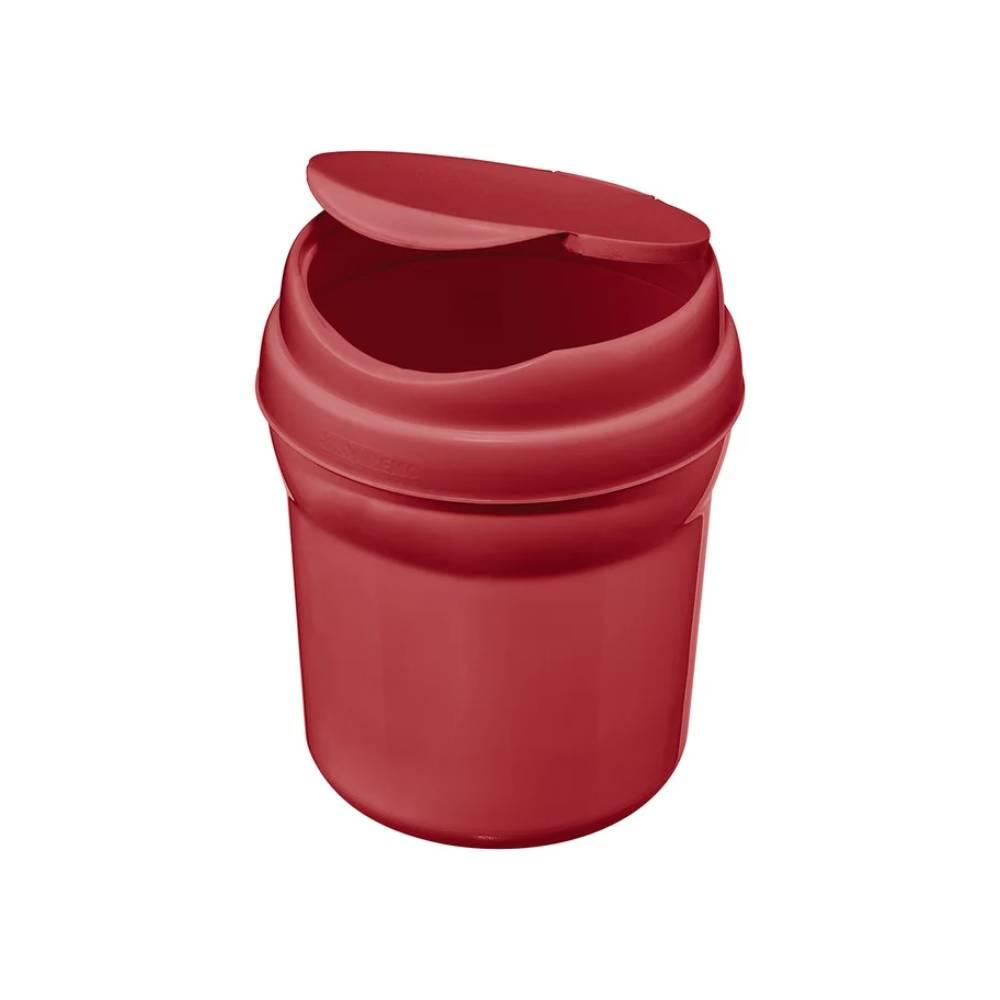 Lixeira Plástico para Pia Vermelho 2,4L – SANREMO