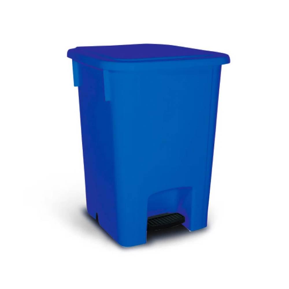 Lixeira com Pedal Azul 100L – BRALIMPIA