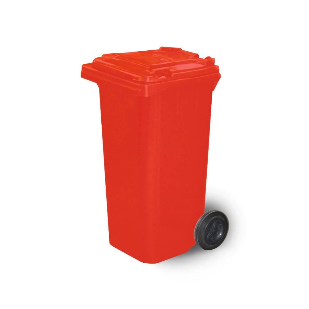 Contentor com Rodas Vermelho 120L – BRALIMPIA