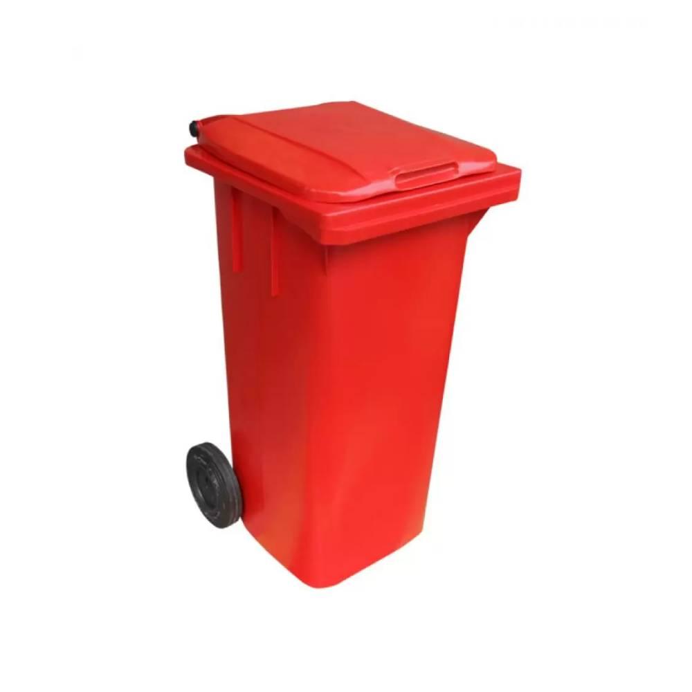 Contentor com Rodas Vermelho 240L – BRALIMPIA