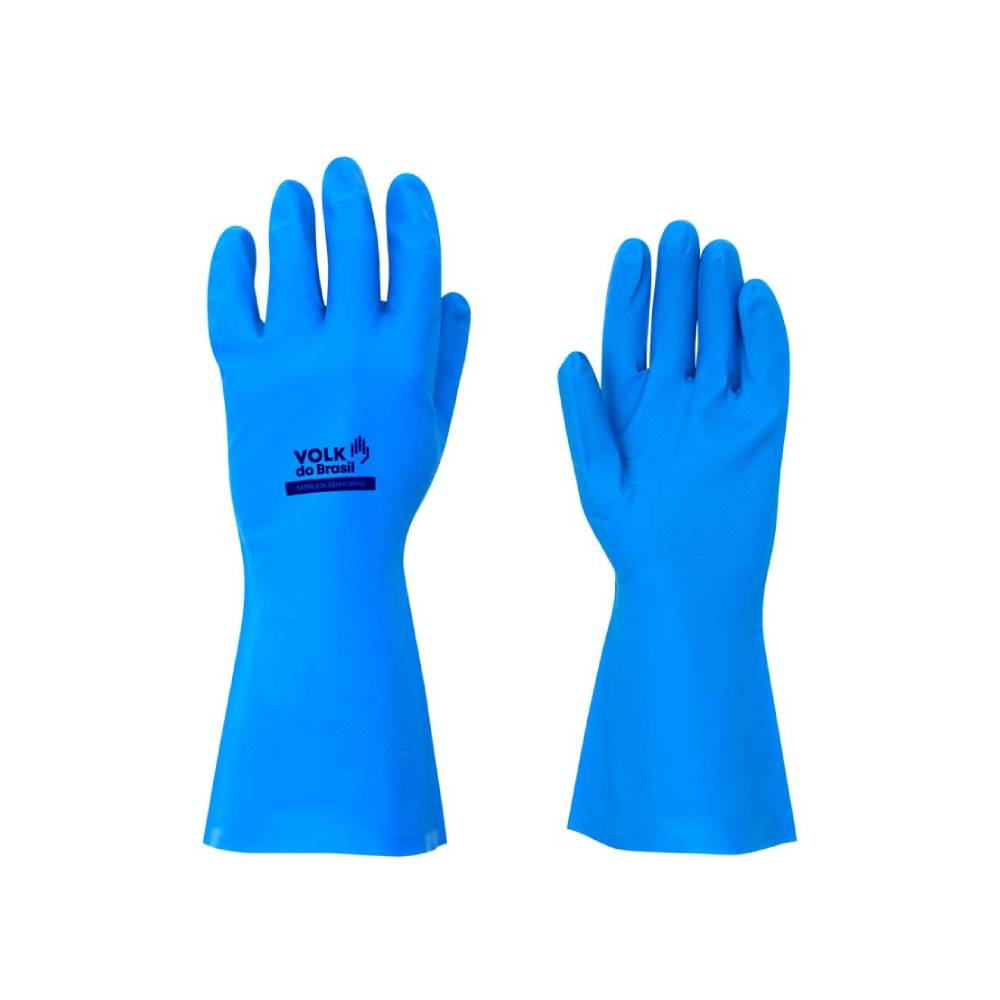 Luva Nitrílica Azul – VOLK