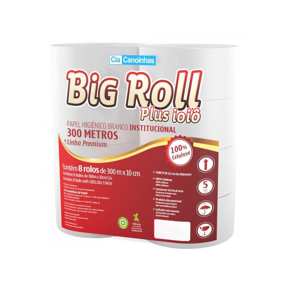 Papel Higiênico BIG ROLL PLUS 8x300m – CANOINHAS
