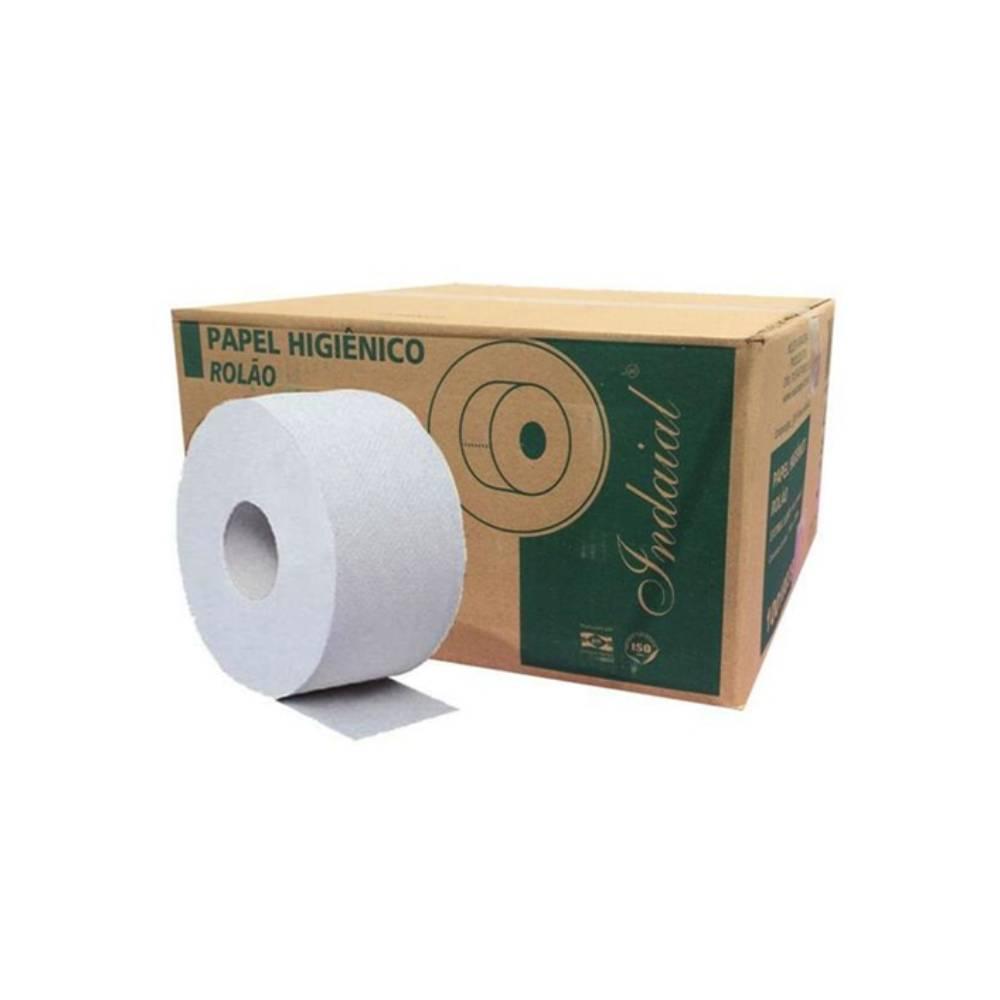 Papel Higiênico Branco Luxo Rolão 8x300m – INDAIAL