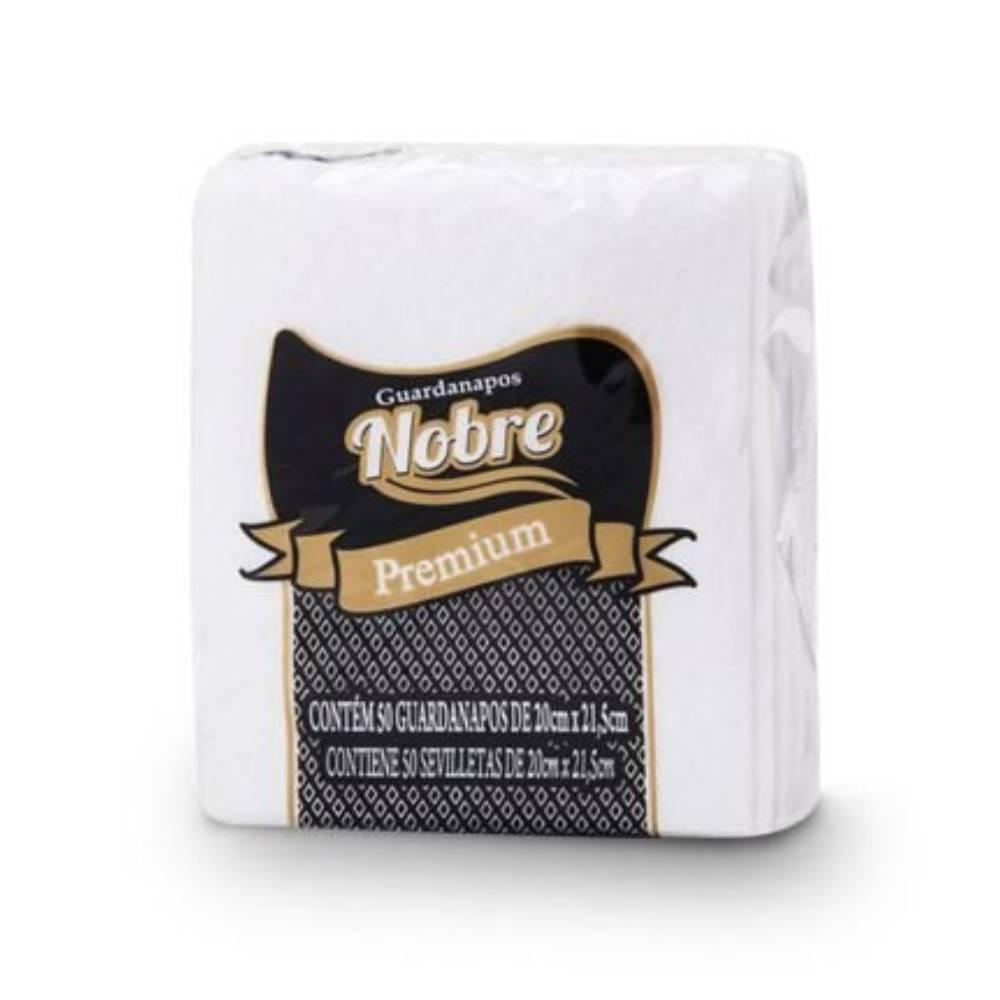 Guardanapo Premium Branco 50und. 20x20cm – NOBRE