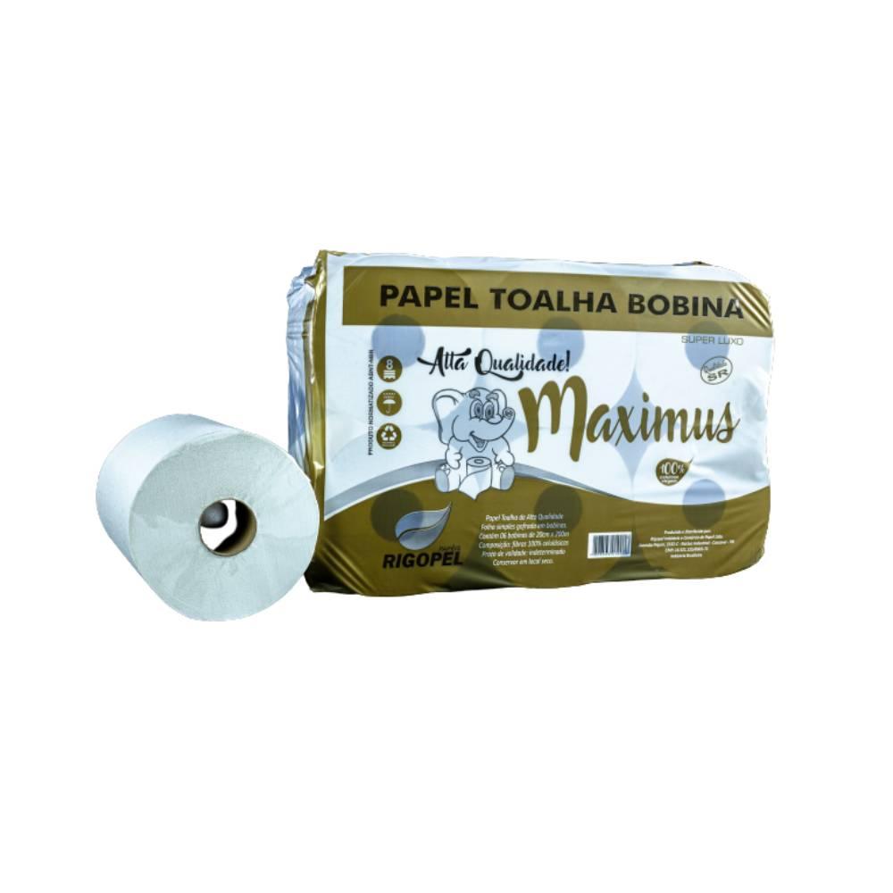 Papel Bobina 100% 6x200x20 34gr Maximus – RIGOPEL
