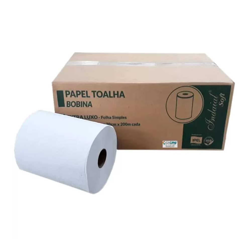 Papel Bobina Soft 6x200x20 100% 34gr TR – INDAIAL