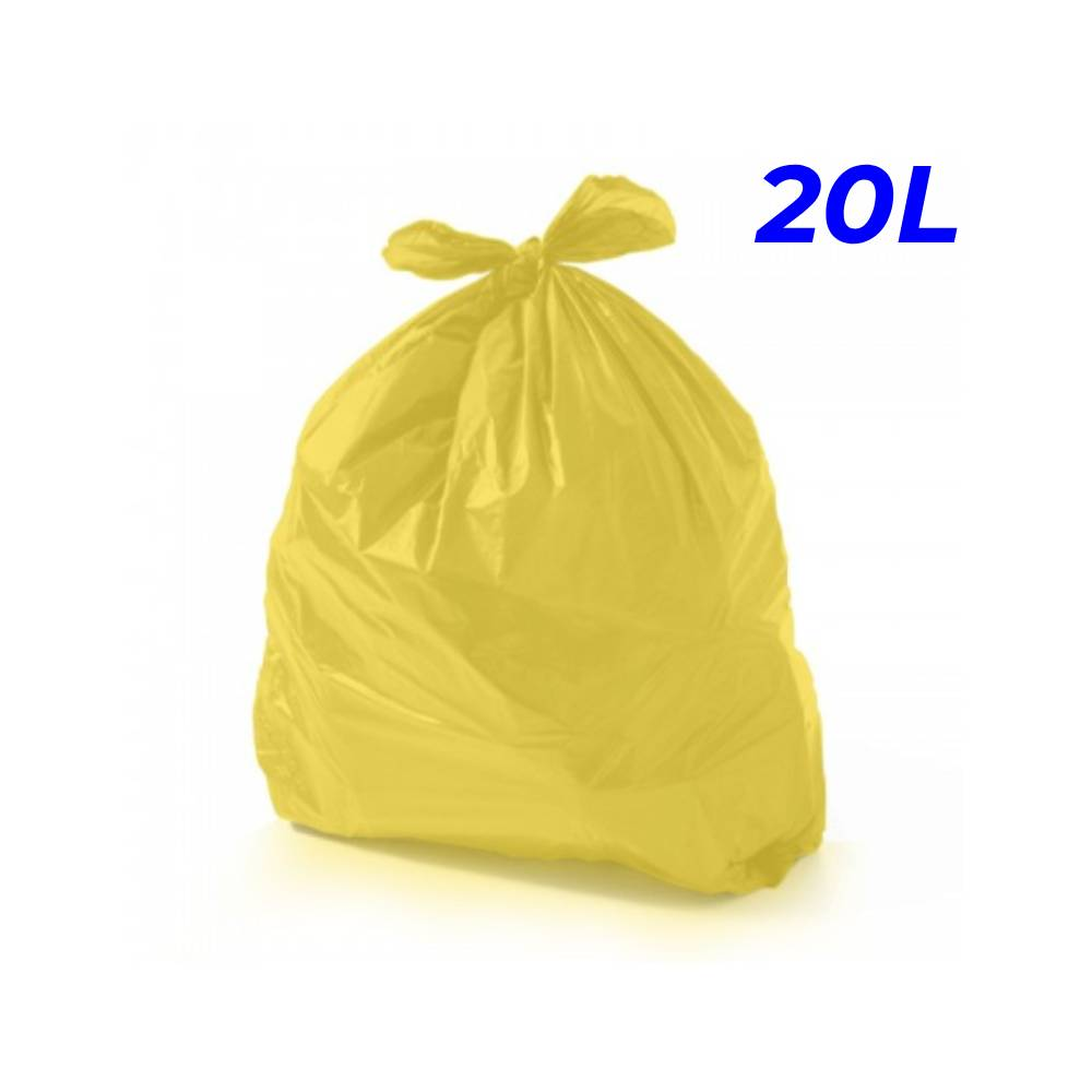 Saco de Lixo Amarelo 20L – SERIART