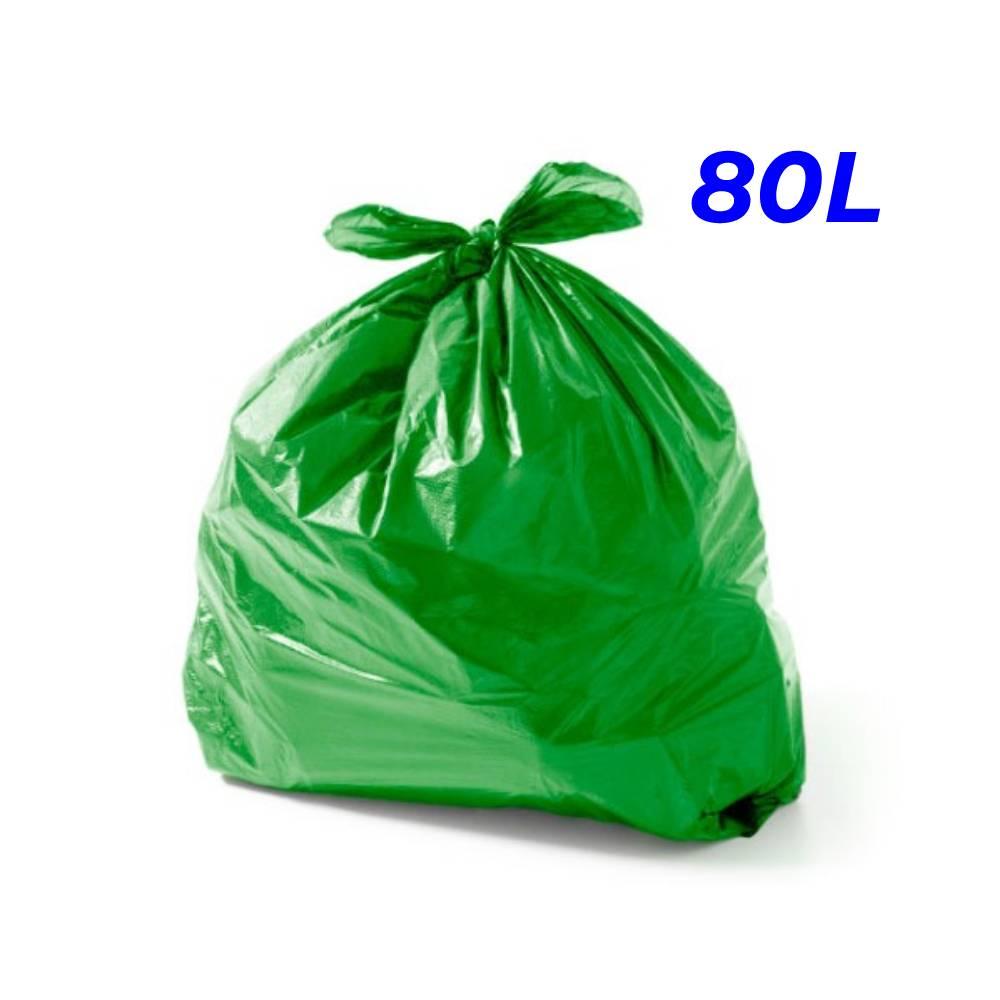 Saco de Lixo Verde 80L – SERIART