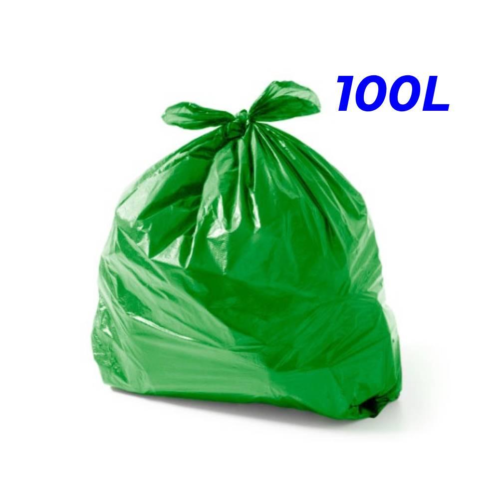 Saco de Lixo Verde 100L – SERIART