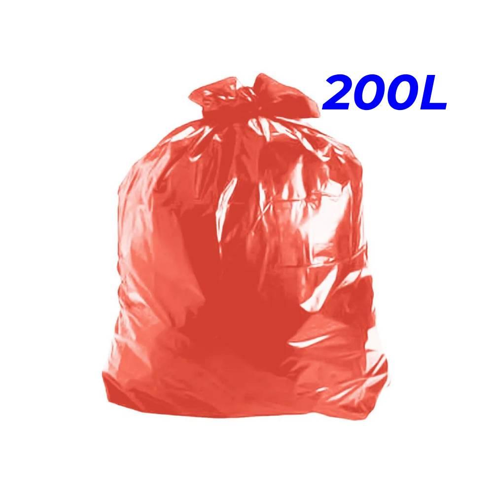 Saco de Lixo Vermelho 200L – SERIART