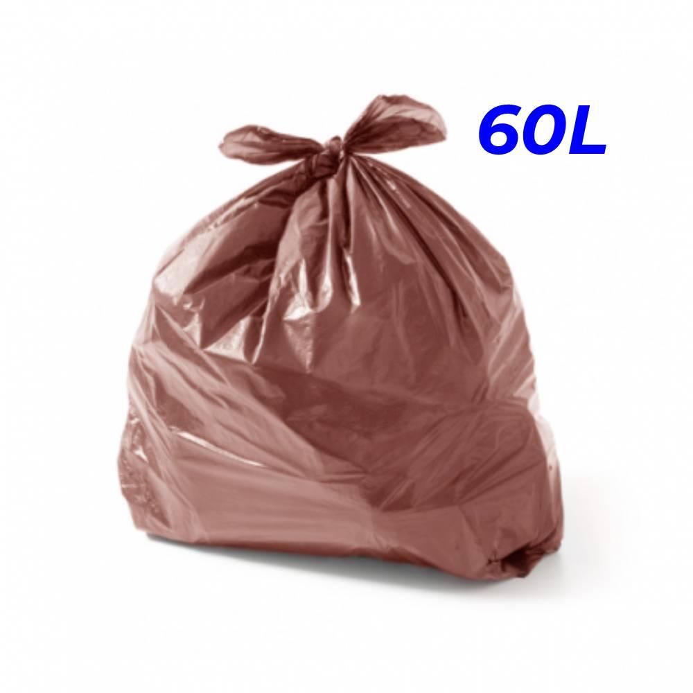 Saco de Lixo Marrom 60L – SERIART