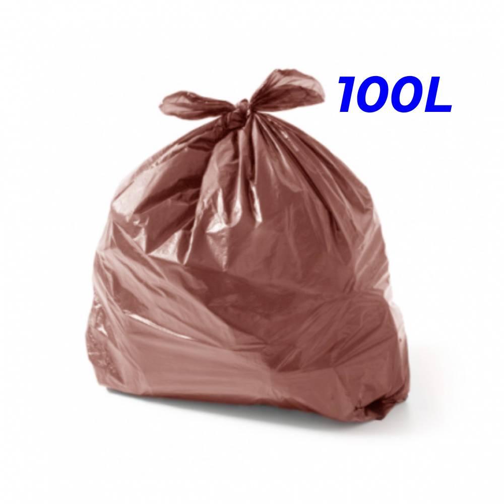 Saco de Lixo Marrom 100L – SERIART