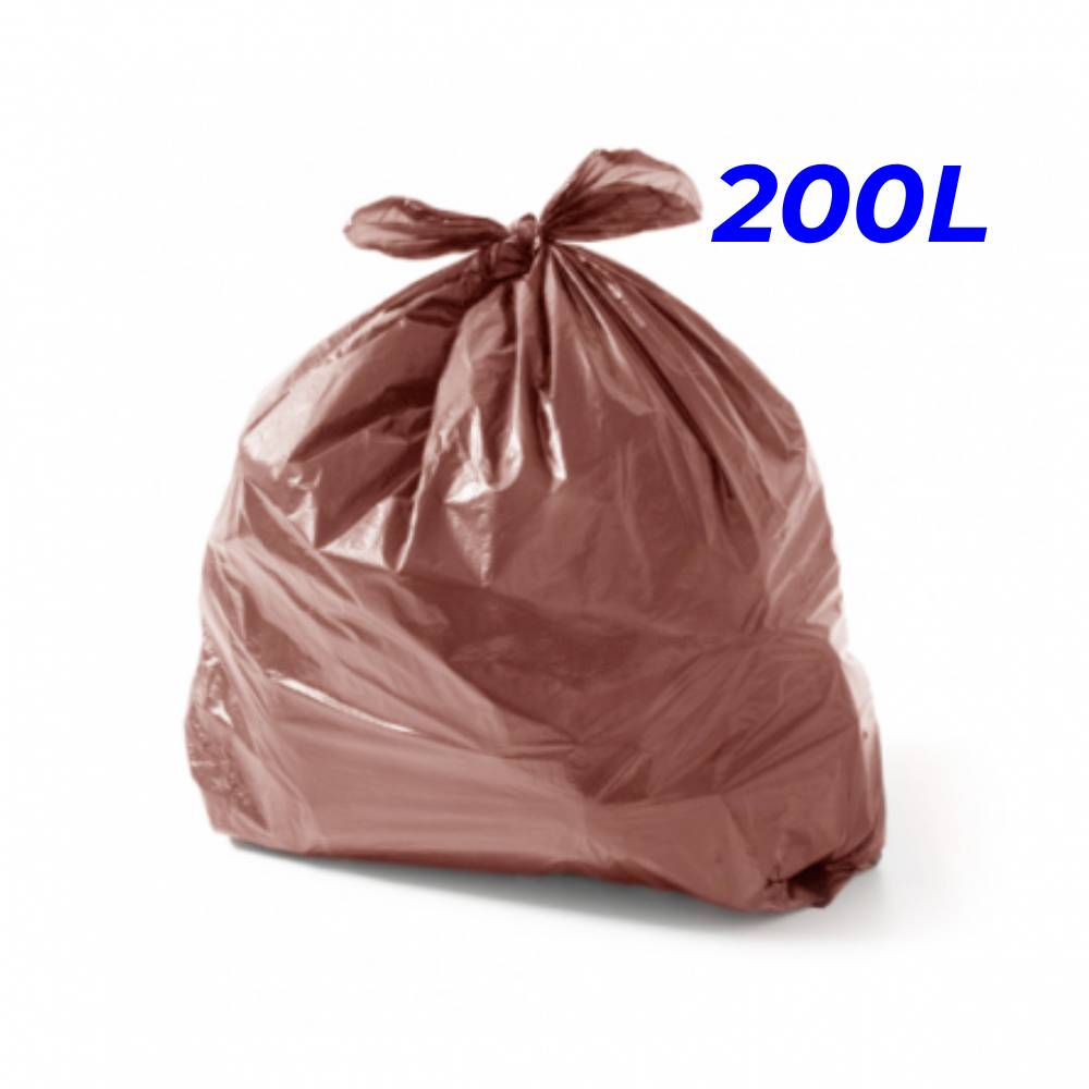 Saco de Lixo Marrom 200L – SERIART