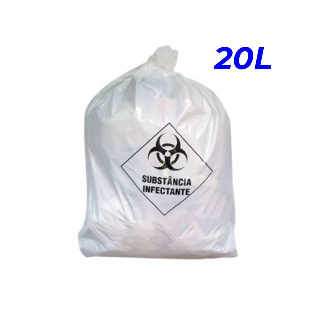 Saco de Lixo Hospitalar Branco 20L – SERIART