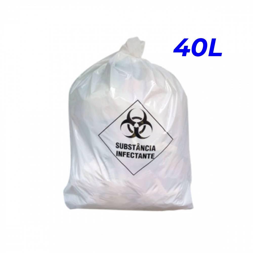 Saco de Lixo Hospitalar Branco 40L – SERIART