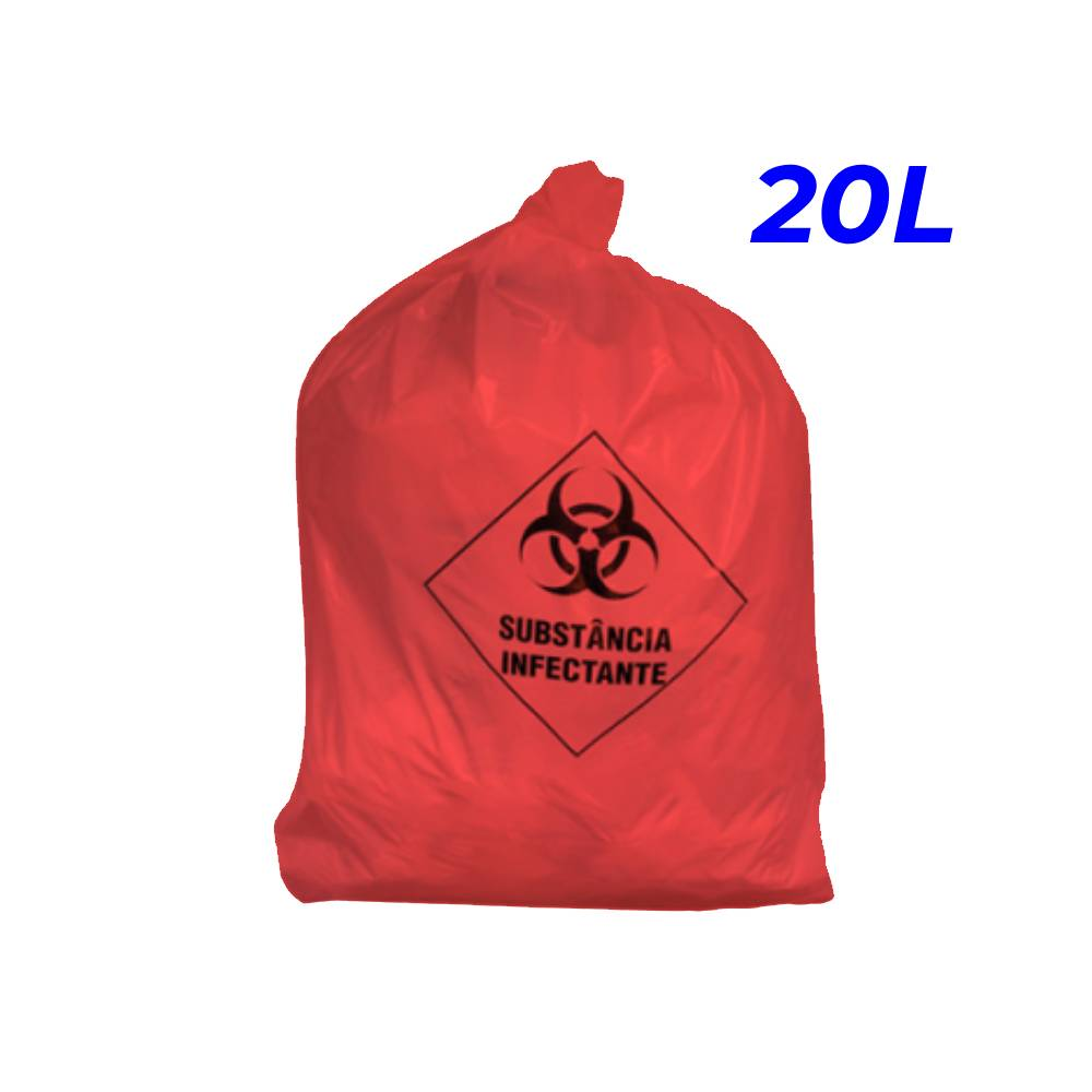 Saco de Lixo Hospitalar Vermelho 20L – SERIART