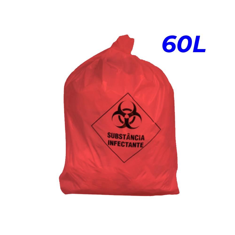 Saco de Lixo Hospitalar Vermelho 60L – SERIART